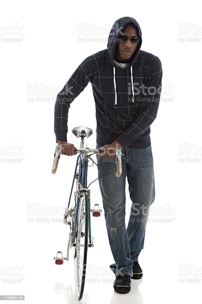 Urban Cyclist stock photo