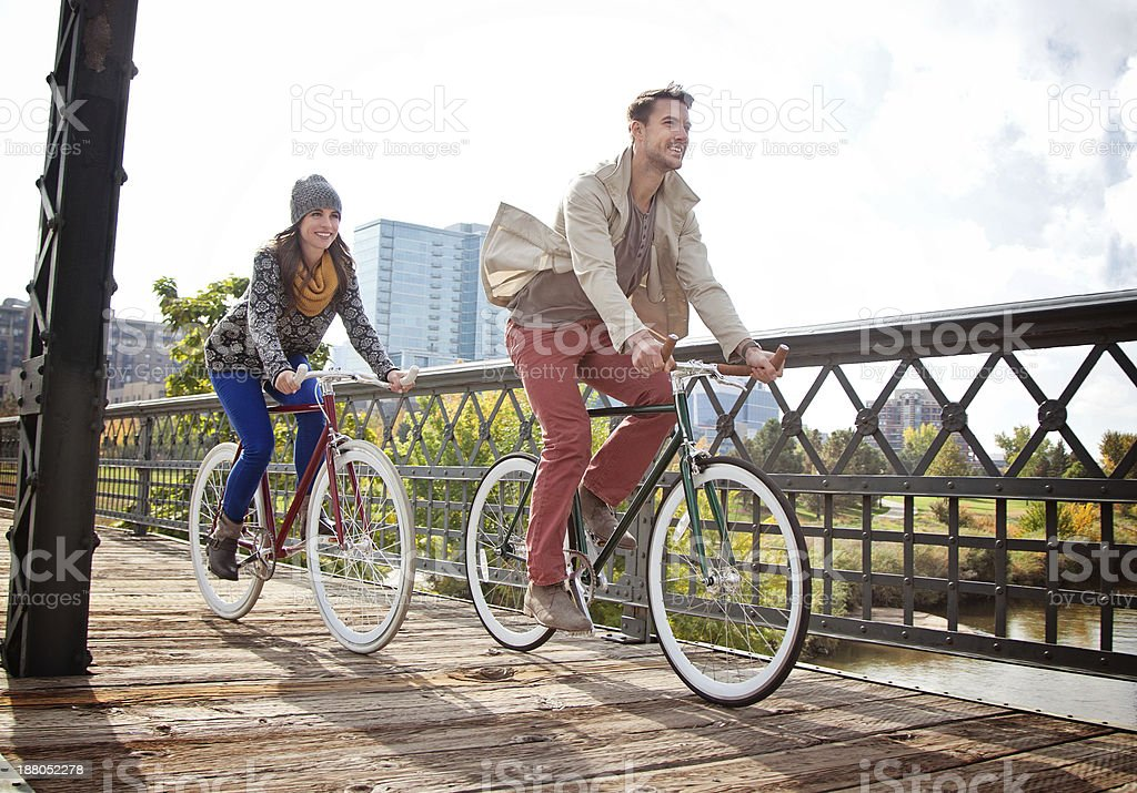 Urban Cyclists stock photo
