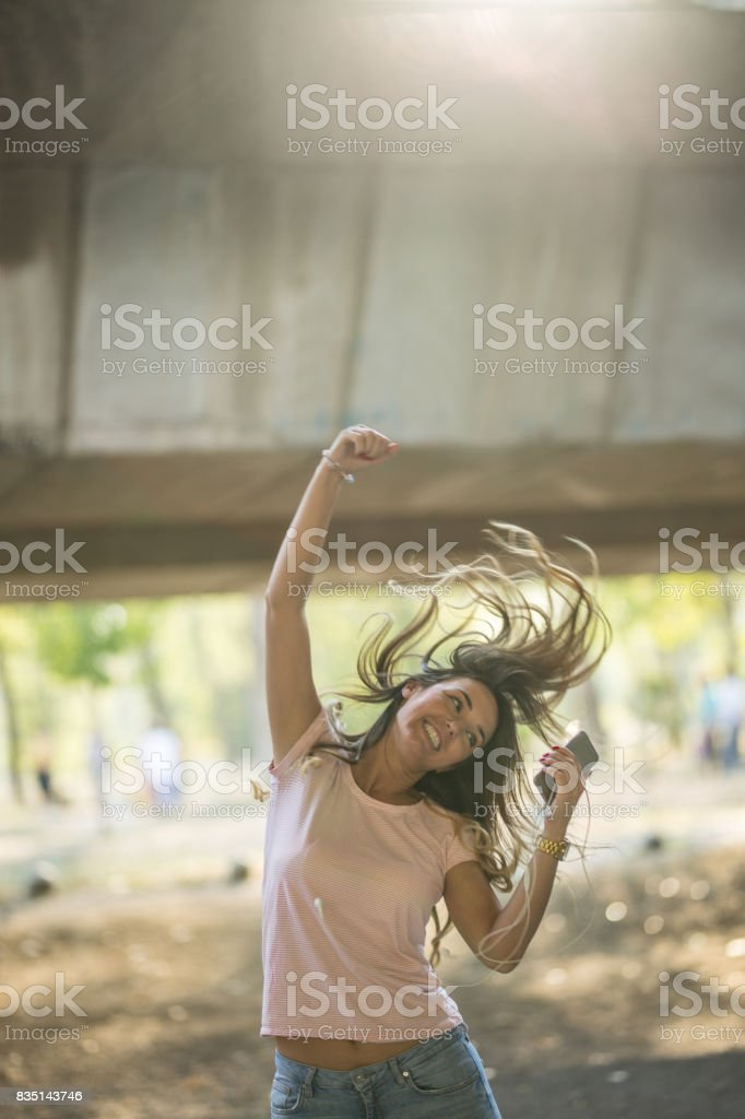 Urban dance girl.