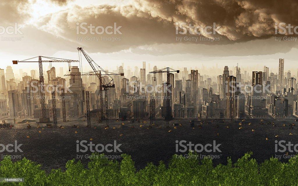 Urban Deforestation royalty-free stock photo