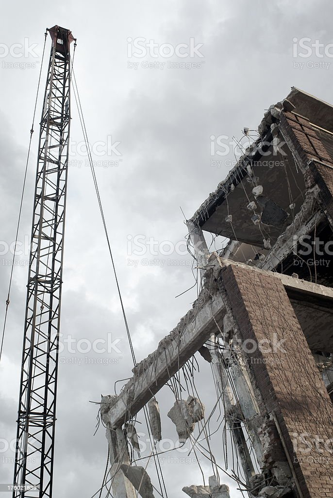 Urban Demolition in Progress stock photo