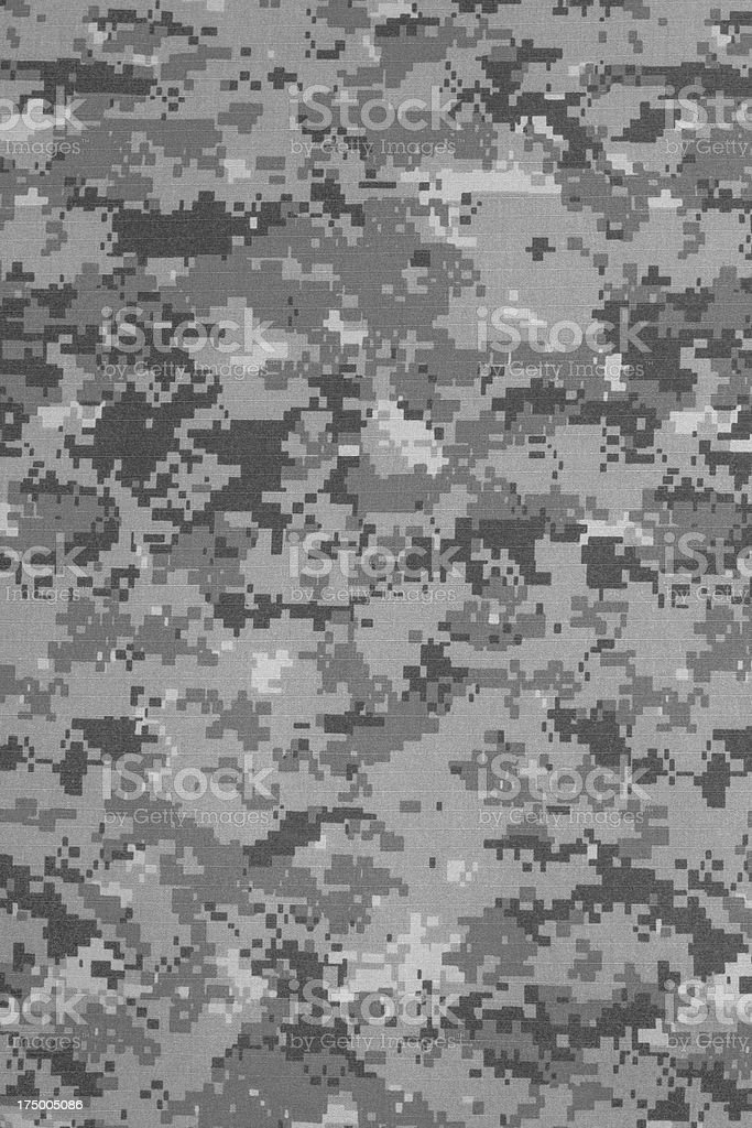 US urban digital camouflage fabric texture background stock photo