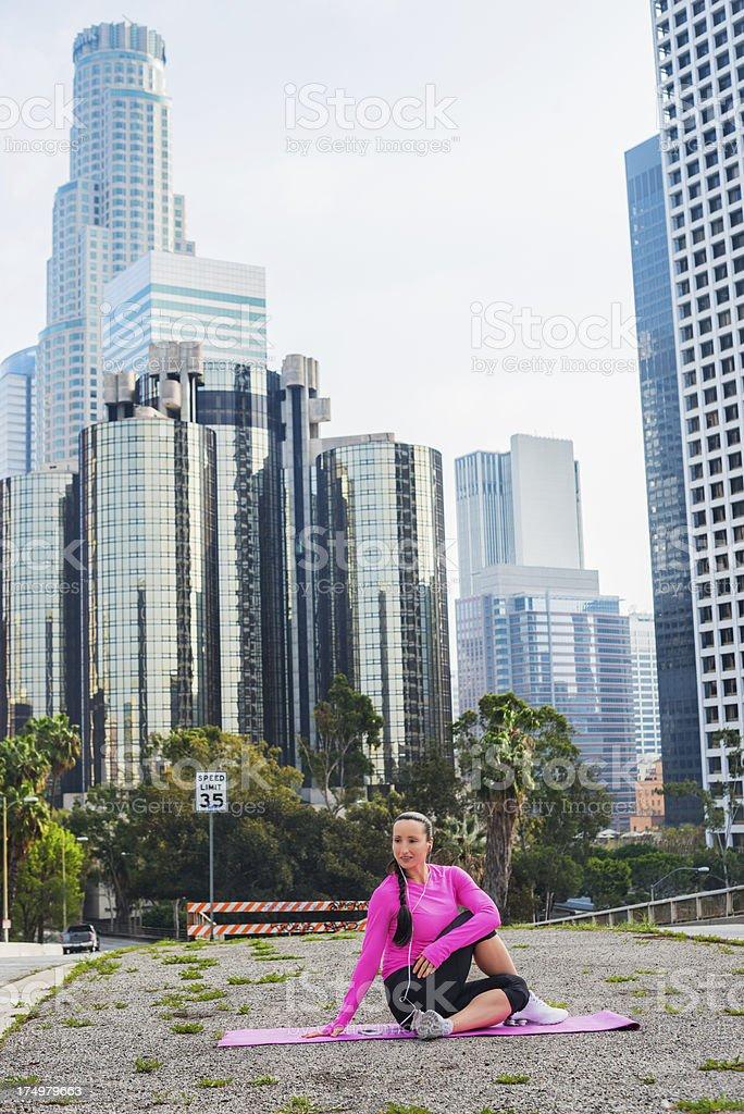 Urban exercise royalty-free stock photo