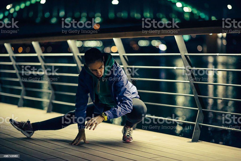 Urban exercising stock photo