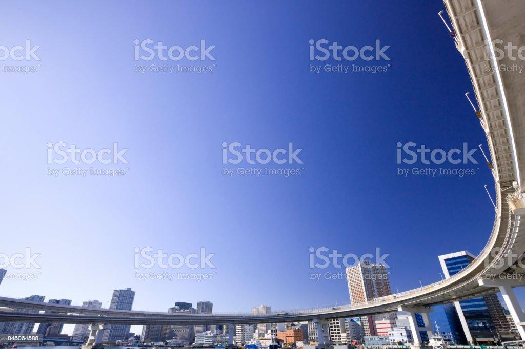 Urban Expressway and sky stock photo