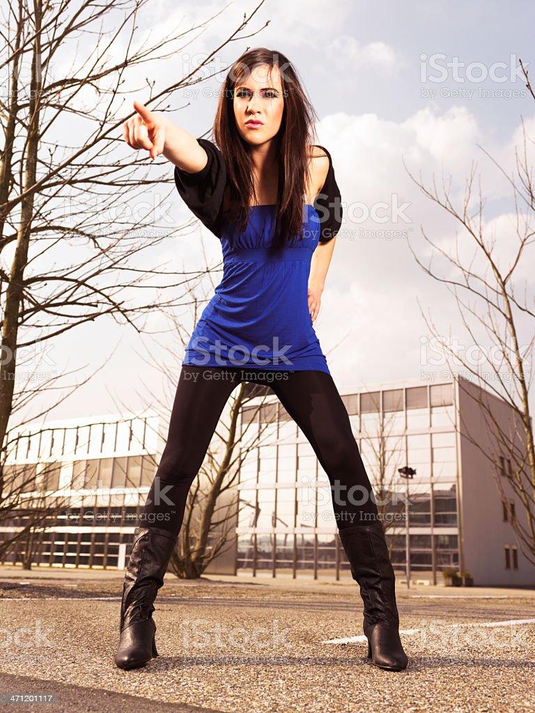 Urban Fashion Young Woman Portrait royalty-free stock photo