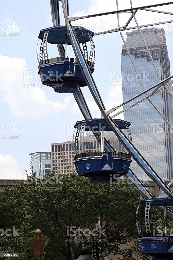 Urban Ferris wheel stock photo