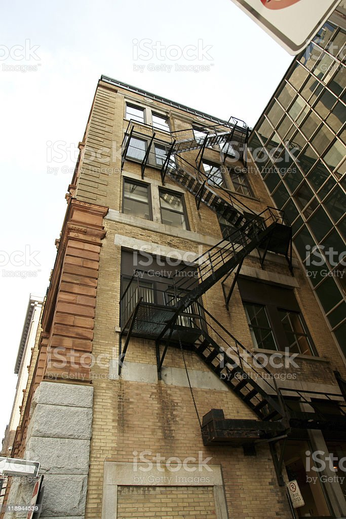 Urban fire escape royalty-free stock photo