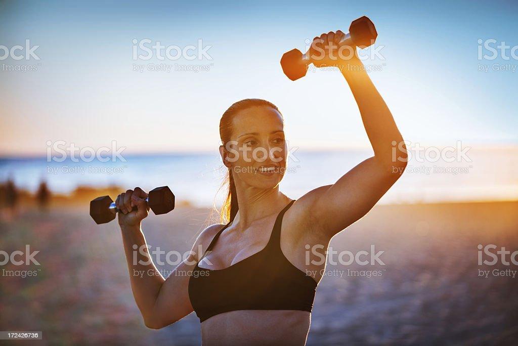 Urban fitness athlete royalty-free stock photo