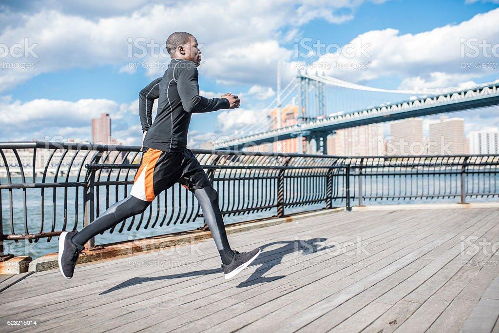 Urban fitness stock photo