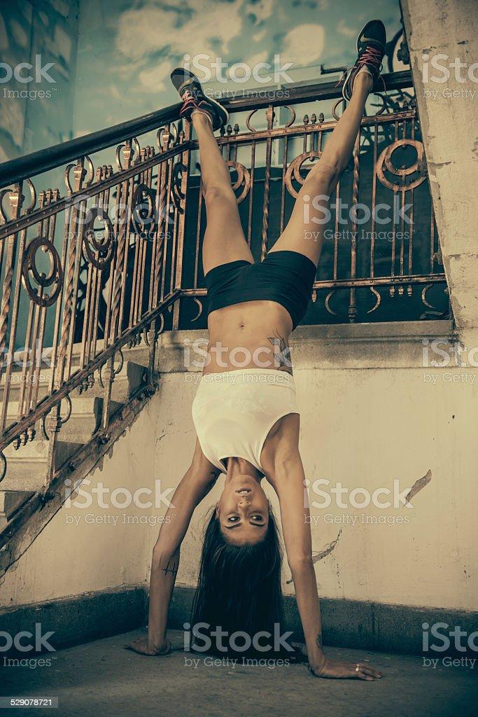 Urban Fitness routine stock photo