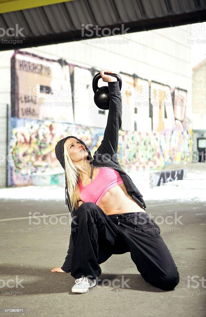 Urban fitness workout stock photo
