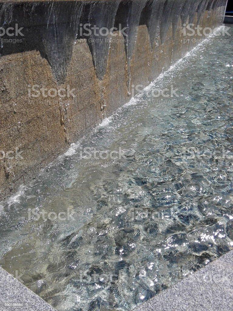 Urban fountain stock photo