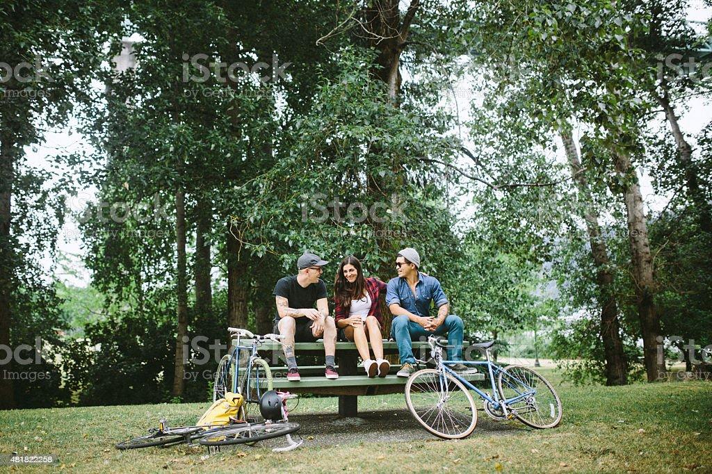 Urban Friends in Portland Oregon stock photo
