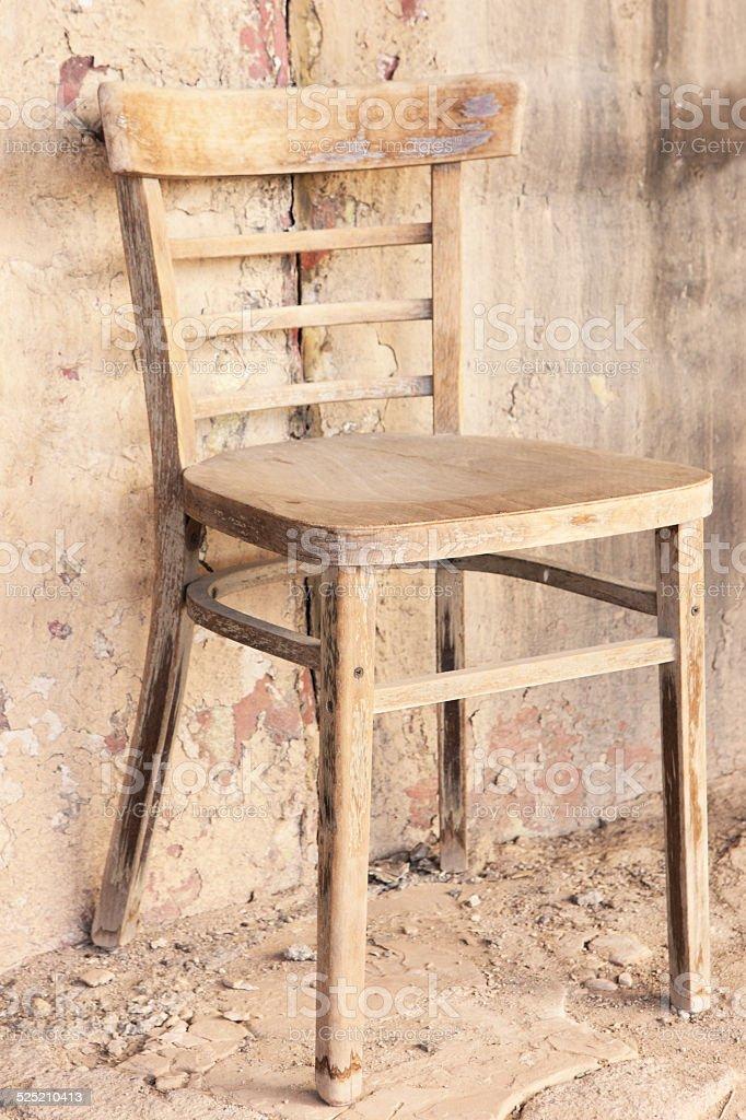 Urban Ghetto Slum Building Chair stock photo