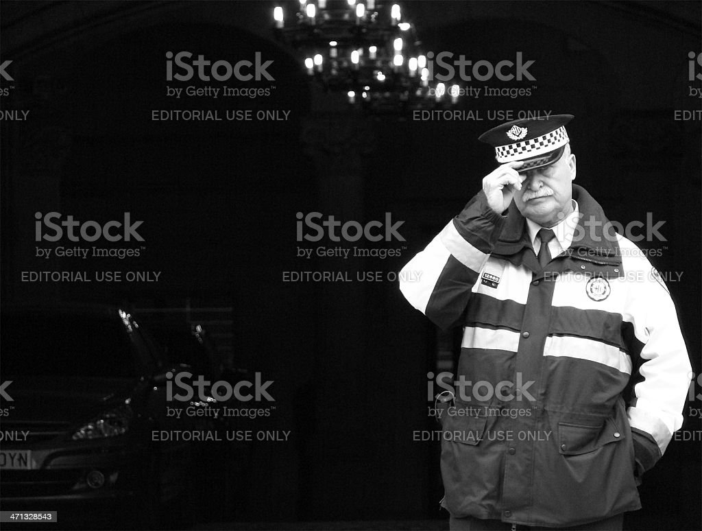 Urban Guard stock photo