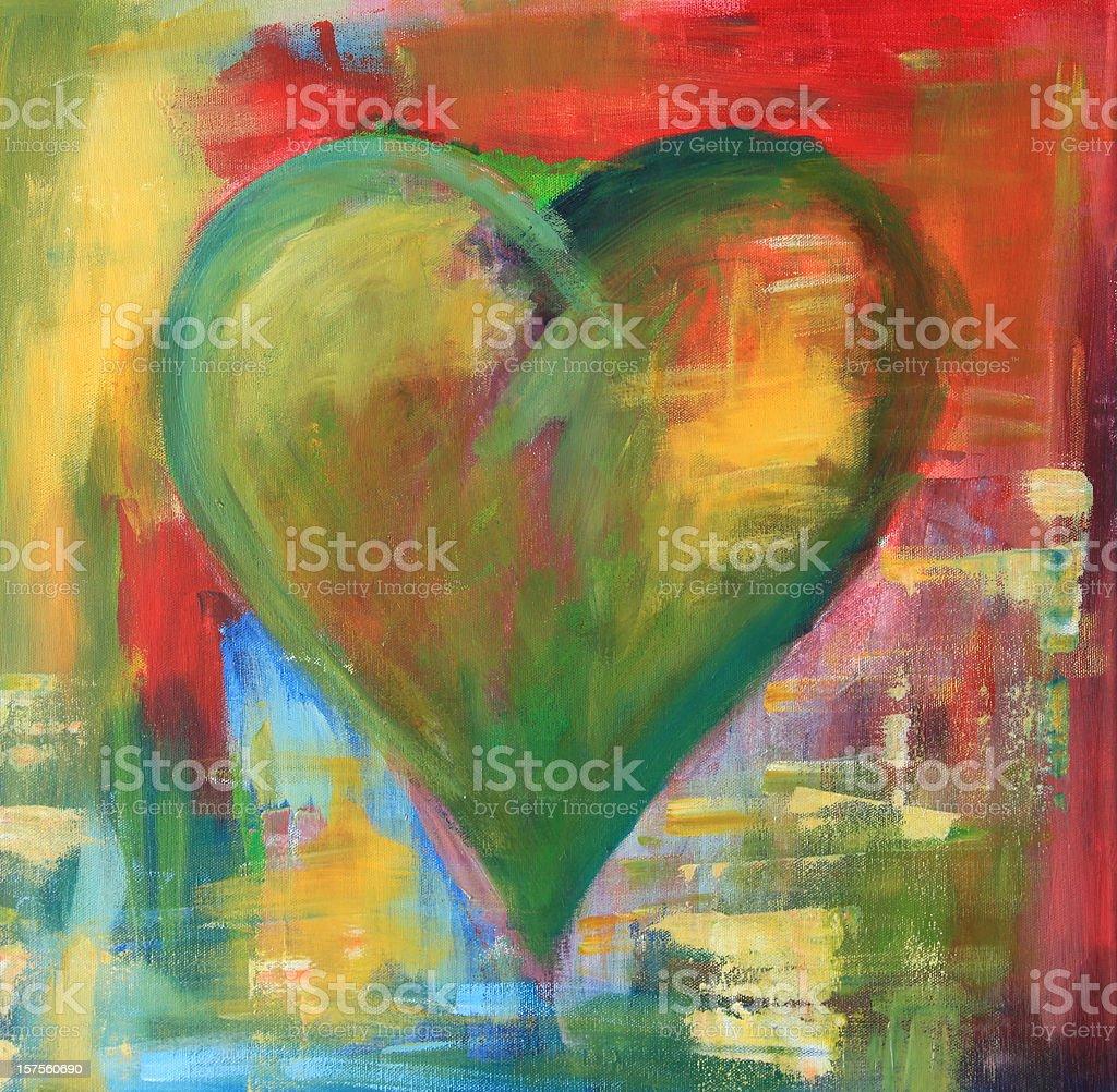 Urban heart royalty-free stock photo