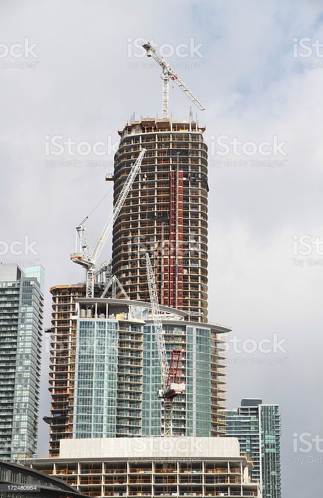 Urban Highrise under Construction royalty-free stock photo