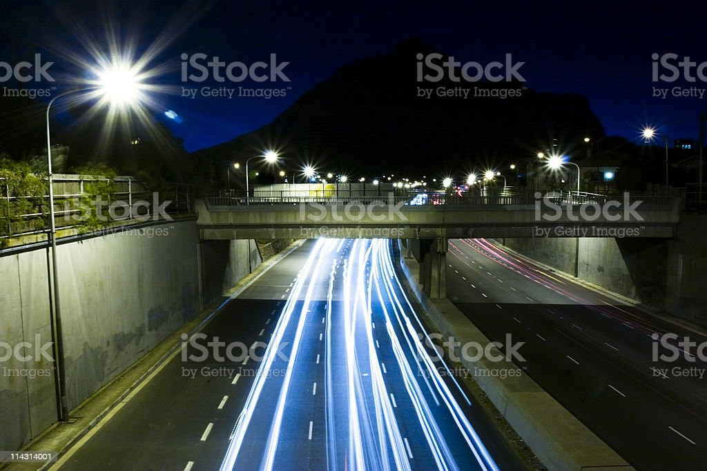 Urban highway royalty-free stock photo