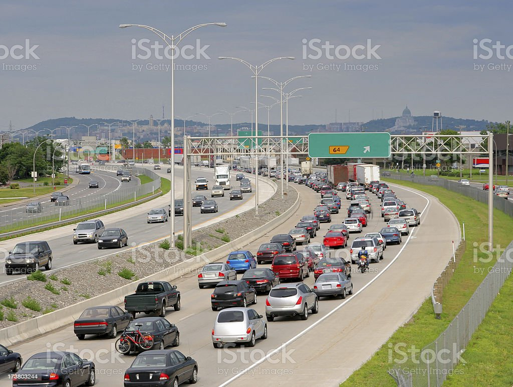 Urban Highway Traffic stock photo