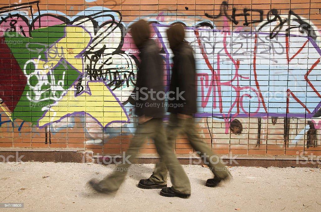 urban hooligans stock photo