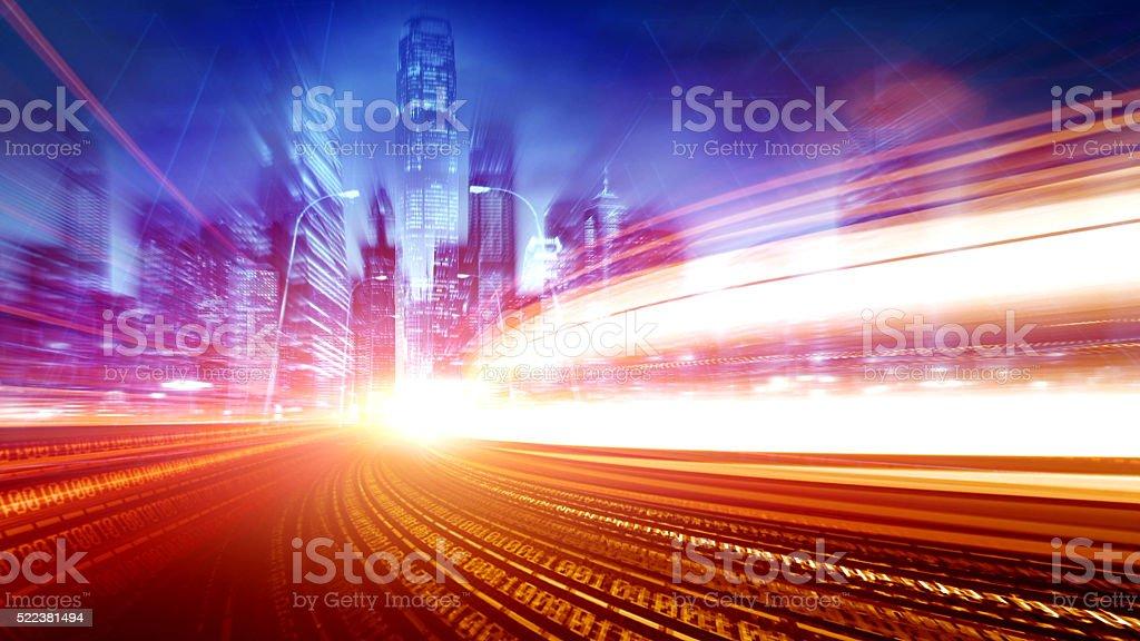 urban informatization and network technology stock photo