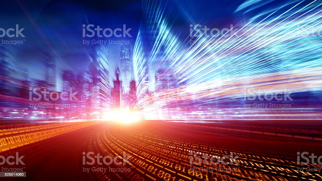 urban informatization and network technology stock photo