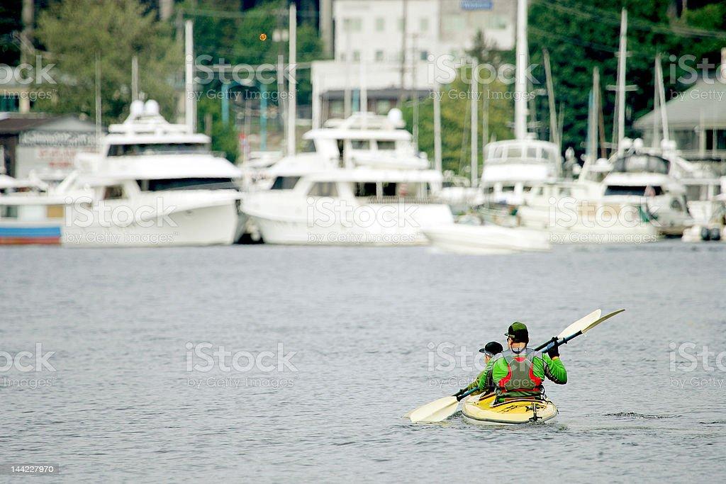 Urban Kayaking royalty-free stock photo