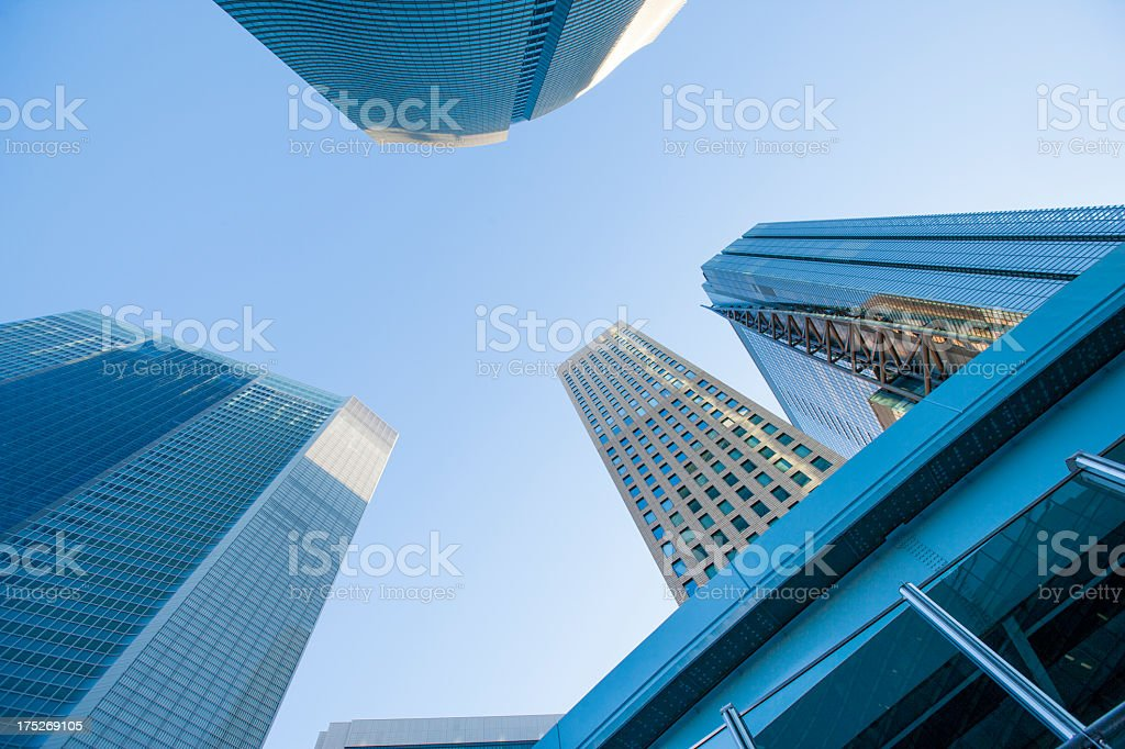 Urban landscape and empty buildings. royalty-free stock photo