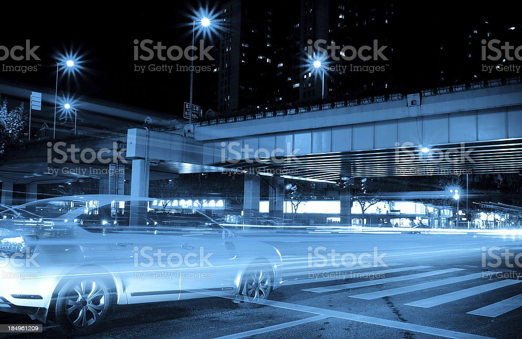 Urban Landscape at night stock photo