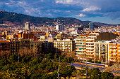 Urban landscape in Barcelona Catalonia