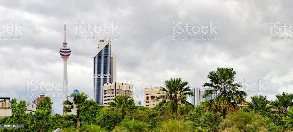 Urban landscape in Kuala Lumpur, Malaysia stock photo