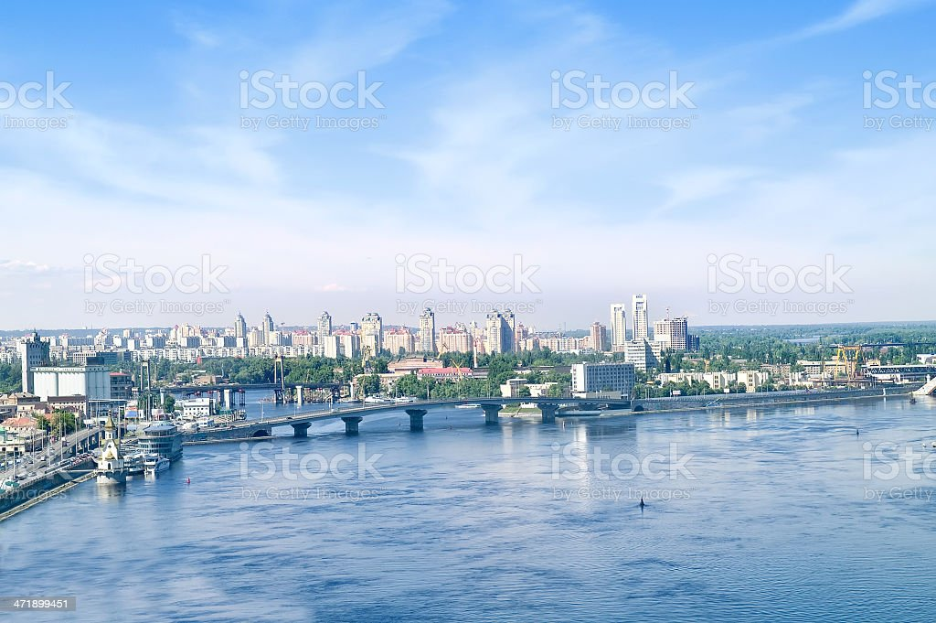 Urban landscape. Kiev stock photo