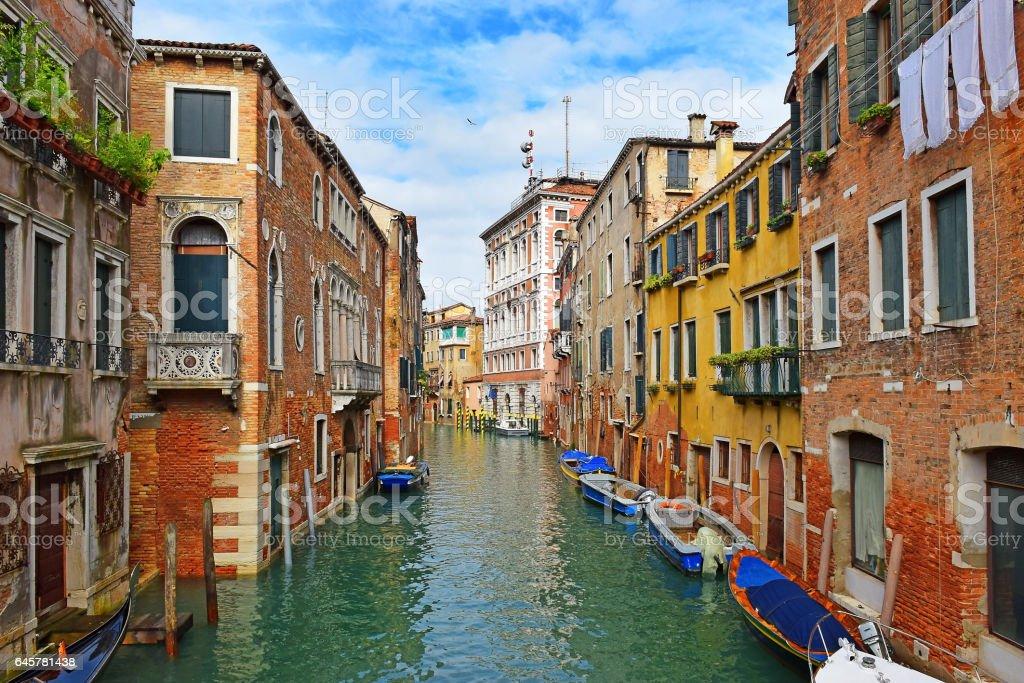 urban landscape of old Venice stock photo