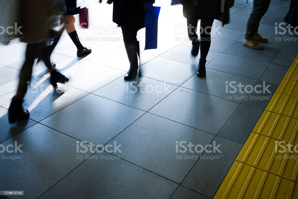 Urban landscape of passers-by. royalty-free stock photo