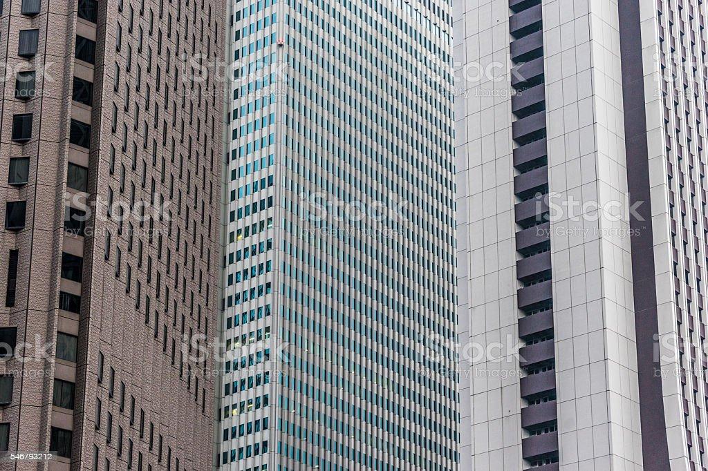 Urban landscape (Japan-building group and the wall) photo libre de droits