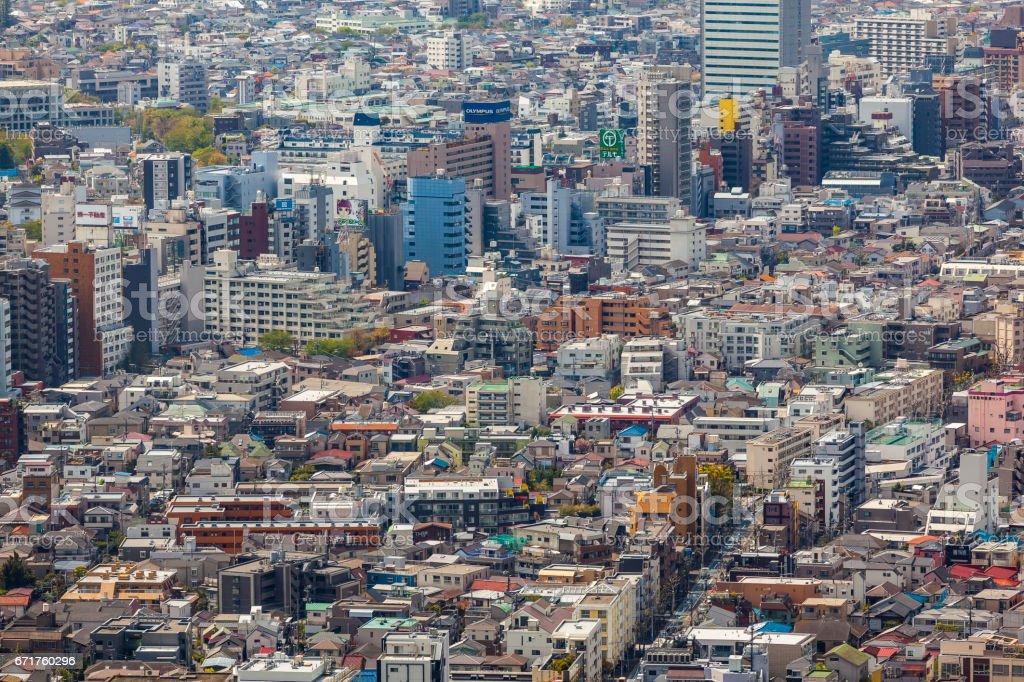 urban landscape tokyo stock photo