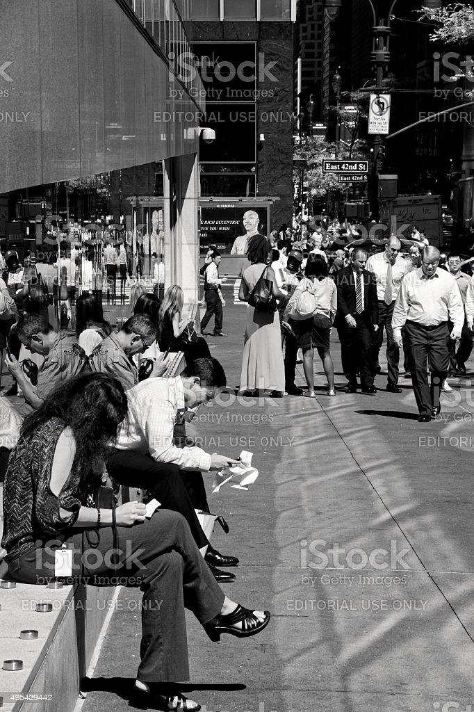 Urban Life, New York City, People Relaxing, Manhattan stock photo