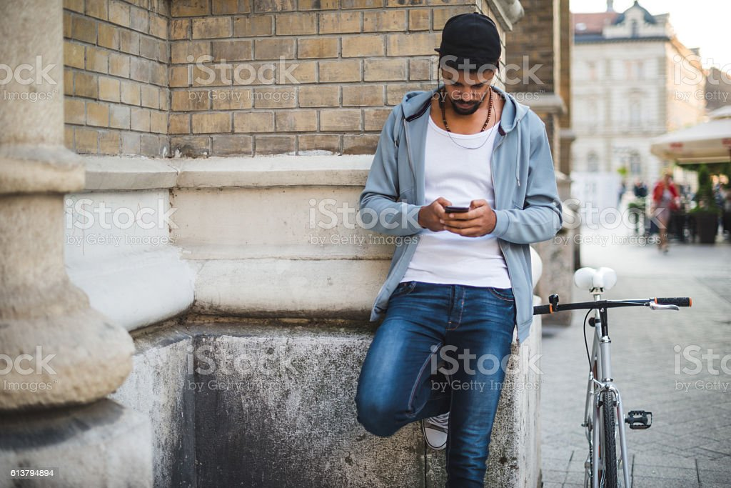 Urban lifestyle in the city stock photo