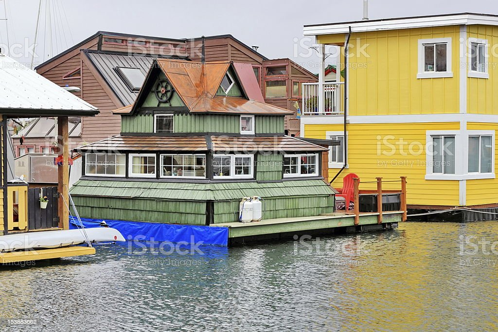 Urban Living on the Ocean stock photo