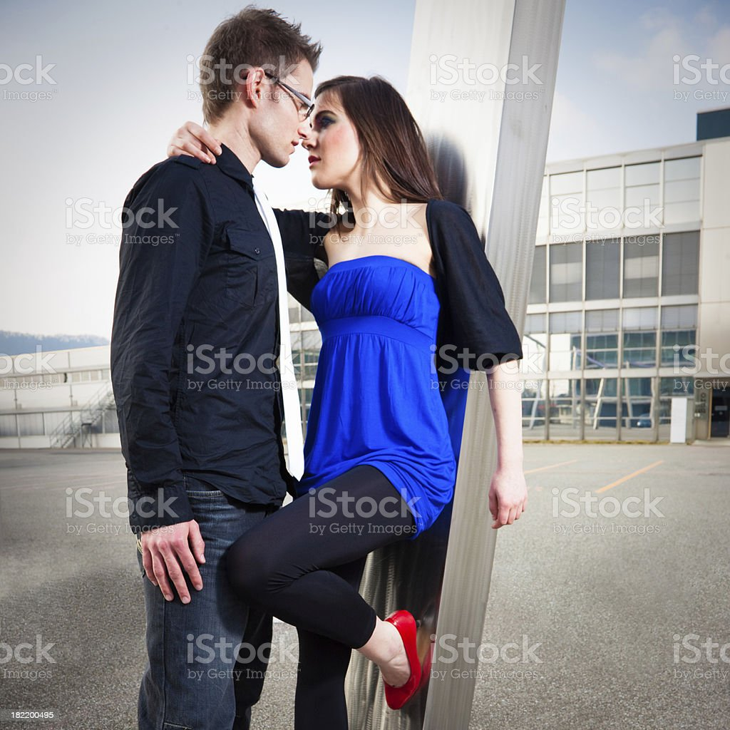 Urban Love Couple Portrait royalty-free stock photo
