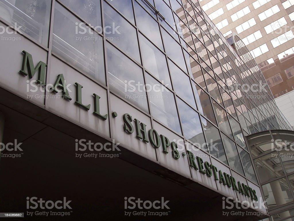 Urban Mall  - Shopping Sign royalty-free stock photo