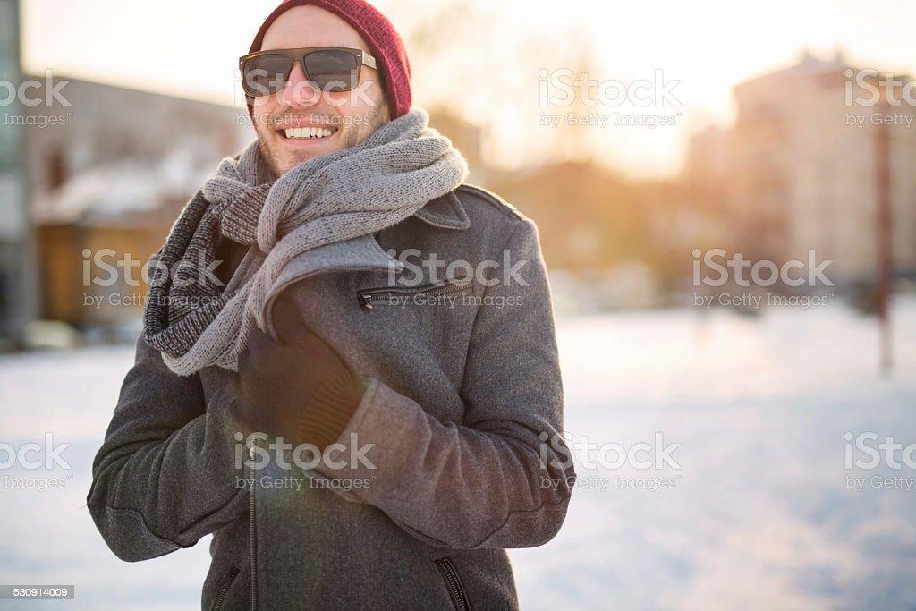 Urban man stock photo