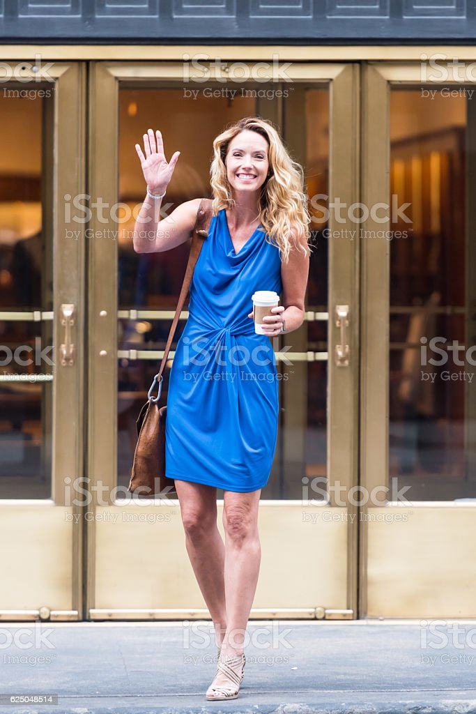 Urban Mature Blond Woman stock photo