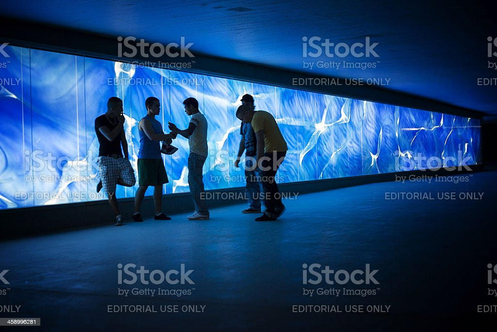 Urban meeting point royalty-free stock photo
