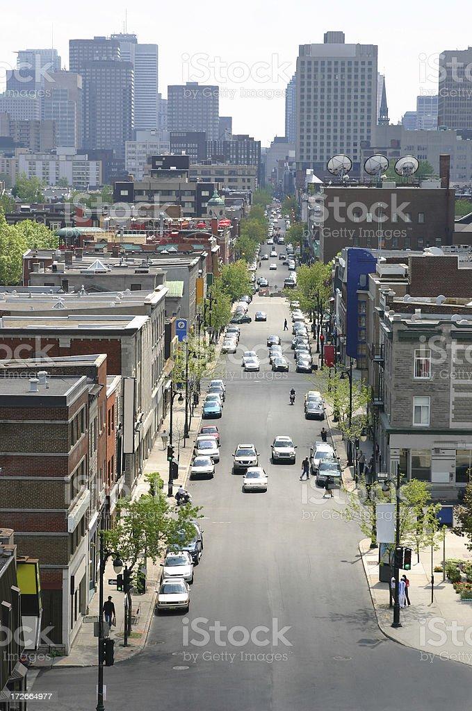 Urban Montreal city avenue royalty-free stock photo