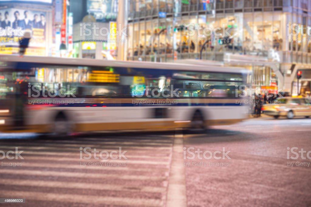 Urban Motion in Tokyo stock photo