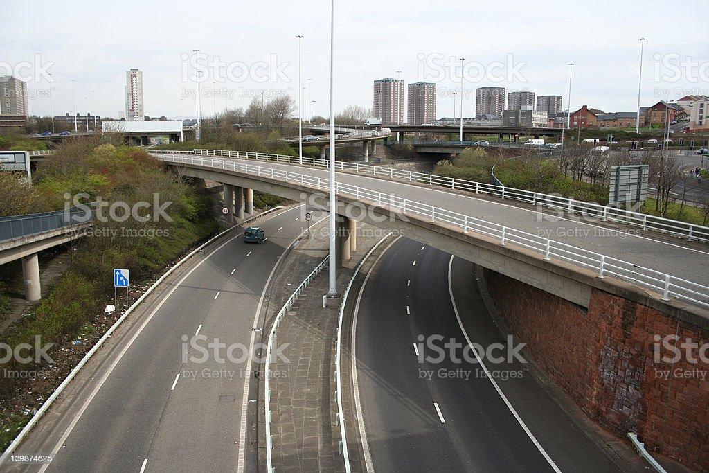 urban motorway royalty-free stock photo