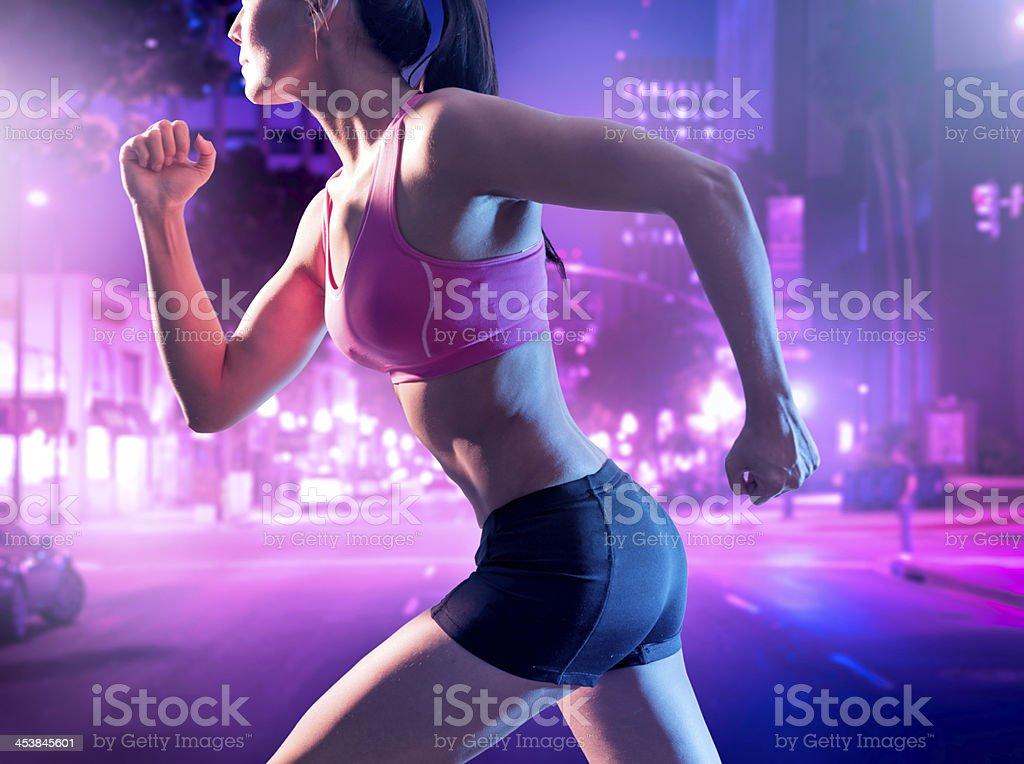 Urban Night Fitness royalty-free stock photo