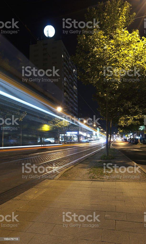 Urban night stock photo